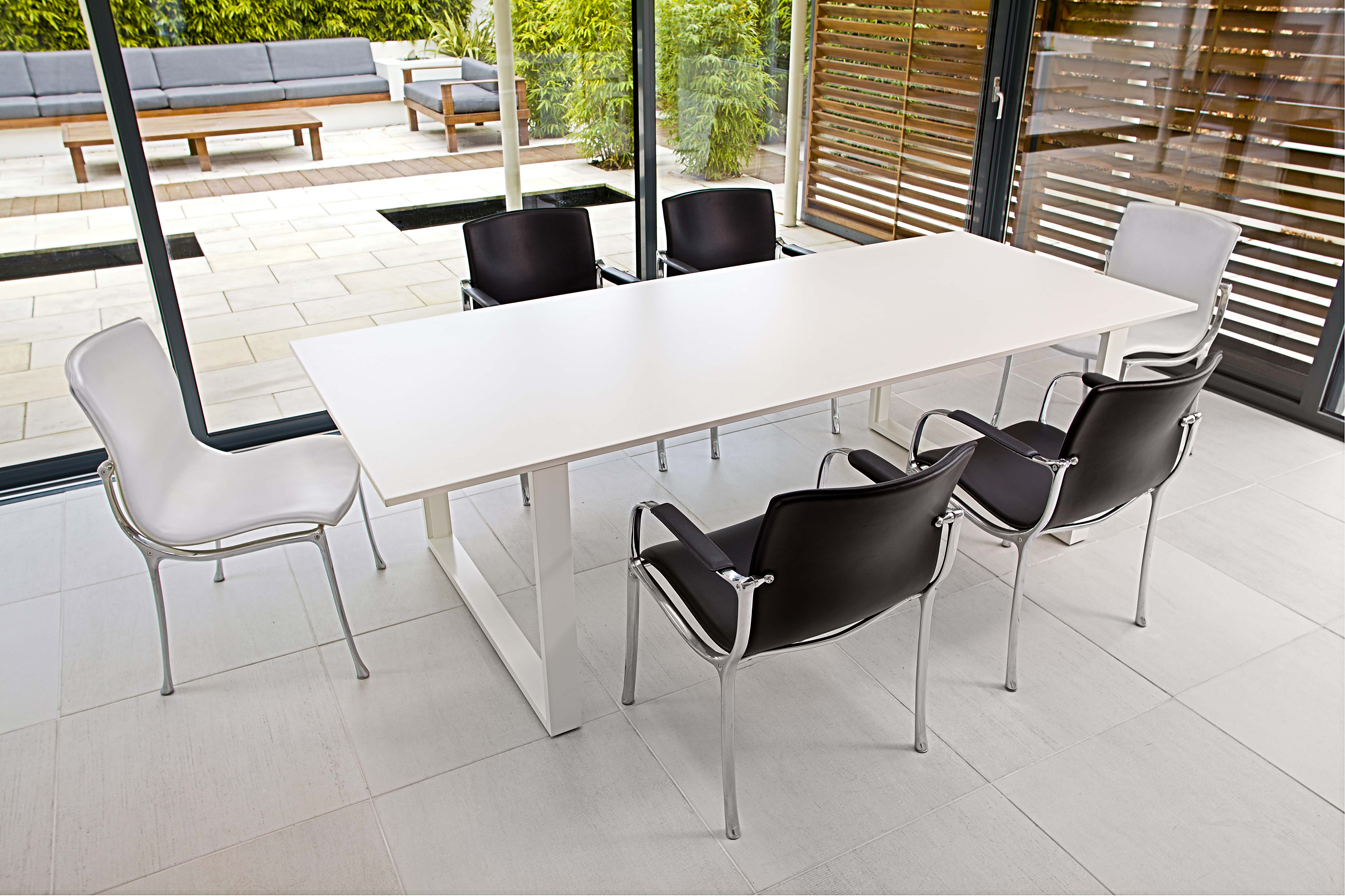 Ice white boardroom table ikon furniture for Table table table