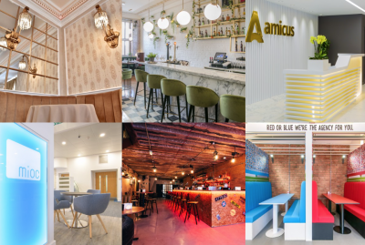 Manchester Hall, Masons Restaurant & Bar, pop up bar Garage, Manc Frank PR, Amicus and Mioc (Manchester International Office Centre).